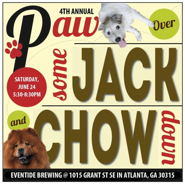 4th Annual Paw Over Some Jack and Chow Down Fundraiser