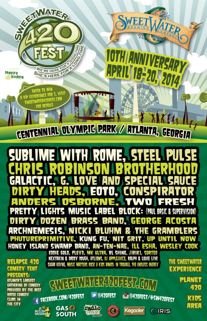 Sweetwater 420 Fest poster