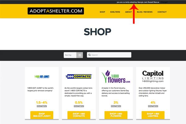 Adopt a Shelter - Confirmation Bar