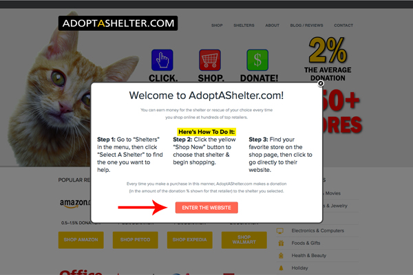 Adopt a Shelter - Select Shelter