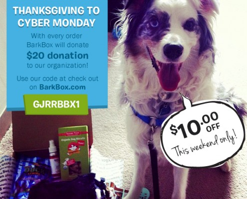 BarkBox Special Thanksgiving Weekend