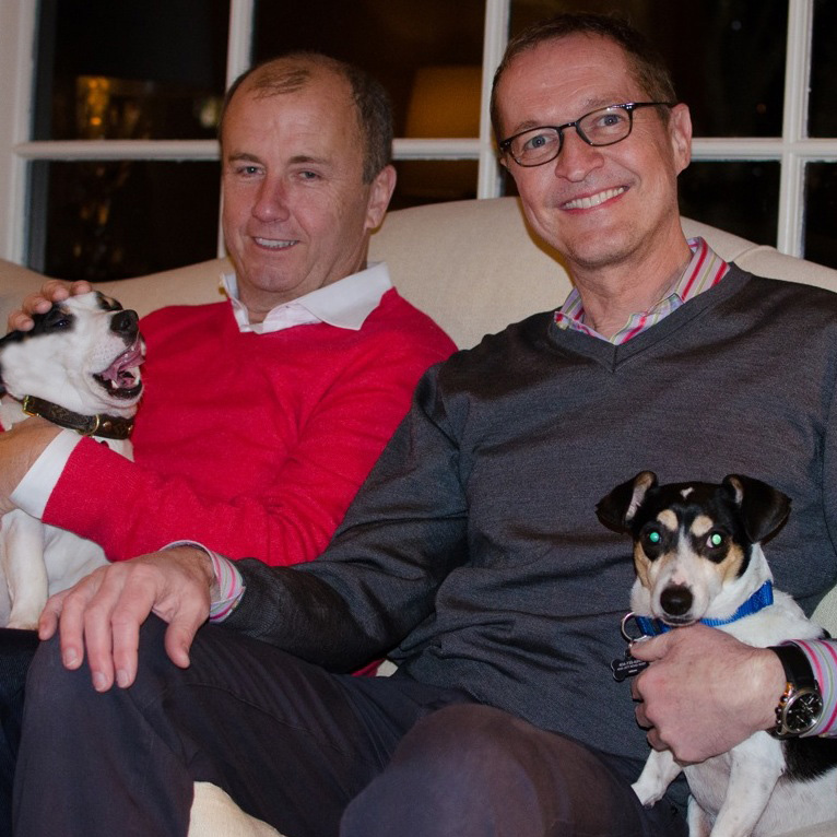 Jeff and Bill with Casper and Pebbles