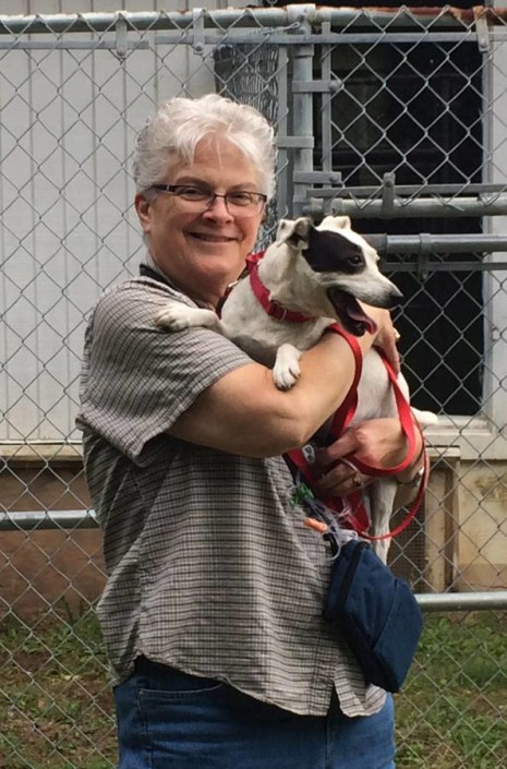 Chloe and Pat on adoption day