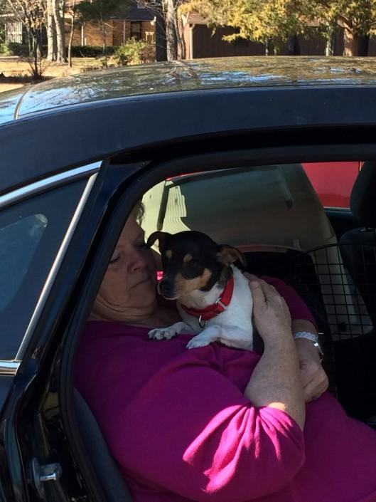 Daisy Mae leaving the ranch