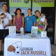 Team Russell with Marcia, Dog City Bakery owner and a lovely woman