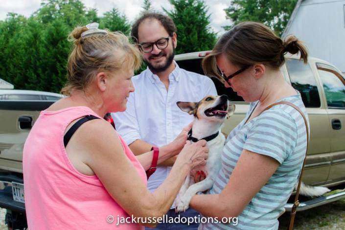 Jax on adoption day