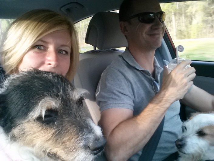 Joey cruising with family