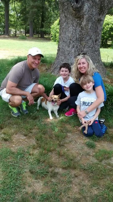 Maggie and family on adoption day