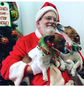 Mark and Penny with Santa
