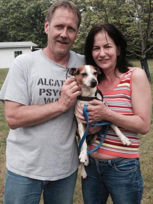 Rocket on adoption day