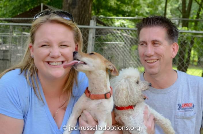 Rosie on adoption day