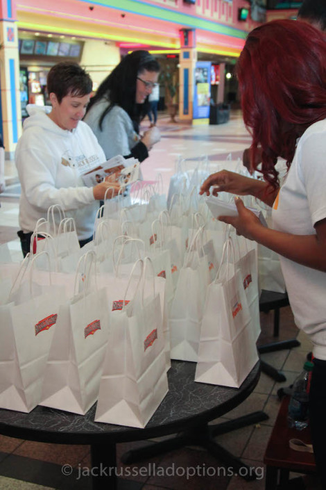 Stuffing promo bags with Fandango
