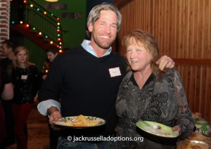 Donna with long-time supporter Sean Stripling at Saturday's party