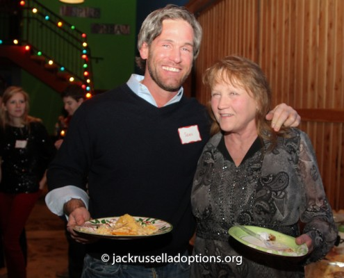 Donna with long-time supporter Sean at Saturday's party