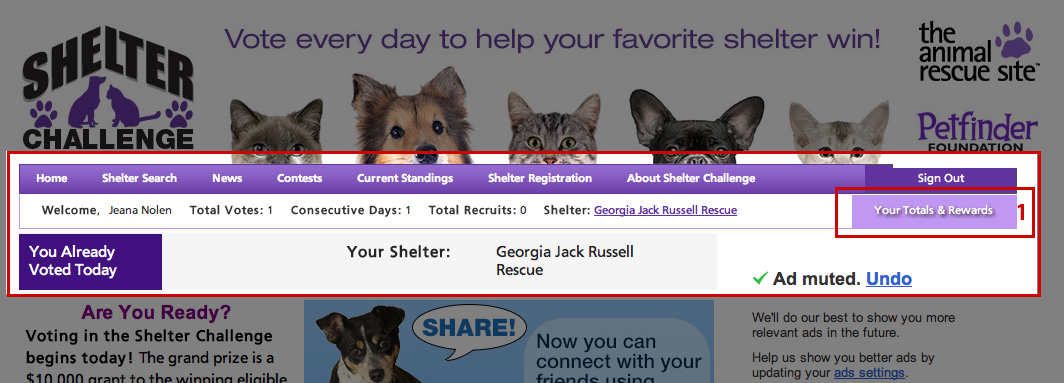 Join Team Russell in the Shelter Challenge