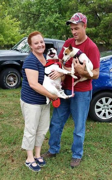 Xena and family on adoption day